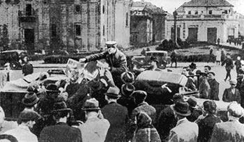 У визволеному м. Тернополі. Вересень 1939 р.