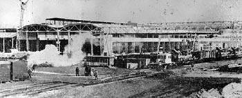 Будівництво Тернопільського комбайнового заводу. 1973 р.